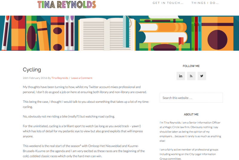 Tina Reynolds Website